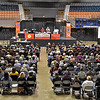 (Brad Davis/The Register-Herald) Attendees fill the floor during the annual Taste of Home Cooking School Thursday night at the Beckley-Raleigh County Convention Center.