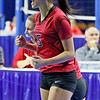 (Brad Davis/The Register-Herald) PikeView's Mackenzie Bridges and teammates react in celebration during the Panthers' opening round win in the class AA State Volleyball Tournament Friday morning at the Charleston Civic Center.