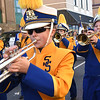 Shady Spring Middle School marching band during the Beckley Veterans Day Parade.<br /> (Rick Barbero/