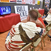 (Brad Davis/The Register-Herald) Republican supporter Ken Hawes looks on as election results start to come in during a watch party at Raleigh County GOP Headquarters Tuesday night in the Cranberry Creek Shopping Center.