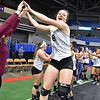 (Brad Davis/The Register-Herald) Woodrow Wilson second round pregame vs Musselman in the class AAA State Volleyball Tournament Friday night at the Charleston Civic Center.