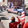 Spectators waving to veterans during the Beckley Veterans Day Parade Friday morning.<br /> (Rick Barbero/