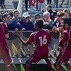(Brad Davis/The Register-Herald) George Washington students rush to the fence to celebrate with their classmates after claiming the Class AAA boys State Championship Saturday at the YMCA Paul Cline Memorial Sports Complex.