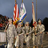 JROTC Color Guard returns The Colors after the National Anthem. Chad Foreman for the Register-Herald
