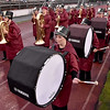 (Brad Davis/The Register-Herald) The Woodrow Wilson marching band begins its march to the bleachers prior to the Flying Eagles' home game against Parkersburg Friday night.