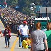 Large crowd on the New Gorge Bridge during Bridge Day in Fayetteville.<br /> (Rick Barbero/The Register-Herald)
