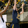 (Brad Davis/The Register-Herald) WVU Tech's Brent Daniels drives to the basket during the Mountaineers' exhibition game with the Golden Bears Saturday night at the Beckley-Raleigh County Convention Center.
