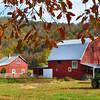 Monroe County fall foliage Barn Scene on Second Creek Road in Second Creek.