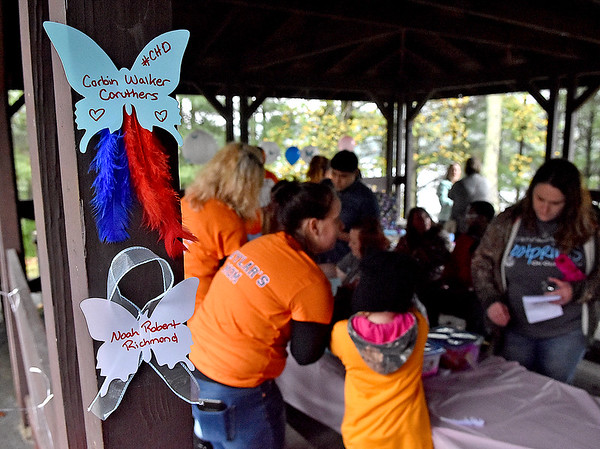 (Brad Davis/The Register-Herald) National Pregnancy and Infant Loss Awareness month memorial event at Lake Stephens Saturday October 8, 2016.