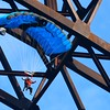 Tandem jumper jumps off the New Gorge Bridge during Bridge Day in Fayetteville.<br /> (Rick Barbero/The Register-Herald)