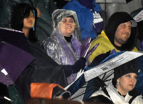 (Brad Davis/The Register-Herald) James Monroe fans and family Friday night in Glen Daniel.