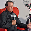 (Brad Davis/The Register-Herald) Phil Mickelson speaks after being introduced as the Greenbrier's new PGA Tour Golf Ambassador during a press conference at the resort Saturday afternoon in White Sulphur Springs.