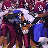 (Brad Davis/The Register-Herald) Woodrow defense against Capital Friday night.