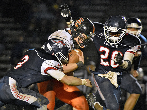 (Brad Davis/The Register-Herald) Summers County's Jacob McBride runs for a big gain during the Bobcats' road game at Indy Friday night.