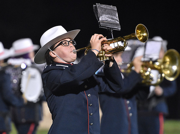 (Brad Davis/The Register-Herald) Indy marching band Friday night in Coal City.