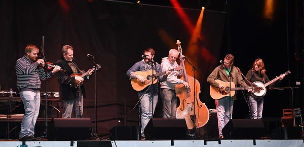 The Grascals performing during the Bridge Jam Concert Friday night at the cascade festival grounds on Maple Ave. in Fayetteville.<br /> (Rick Barbero/The Register-Herald)