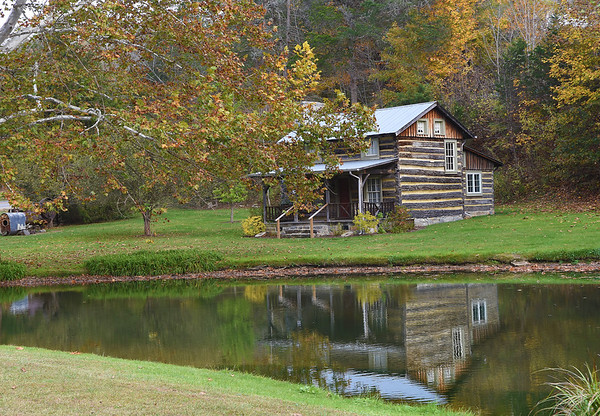 This log house dates from about 1843 and was moved to Greenville in 1990 from War Ridge.