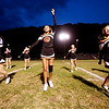 Summers County cheerleaders perform prior to kickoff of their game against Webster County Friday in Hinton. (Chris Jackson/The Register-Herald)