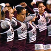 (Brad Davis/The Register-Herald) Woodrow Wilson cheerleaders perform during their game against Capital Friday night.