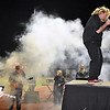 (Brad Davis/The Register-Herald) Liberty's band, which knows no other way than rock & roll, performs during the halftime break of their game at Independence Friday night in Coal City.