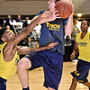 (Brad Davis/The Register-Herald) Former Greater Beckley Christian player Brent Daniels works during WVU Tech practice Friday night at Beckley-Raleigh County Convention Center.