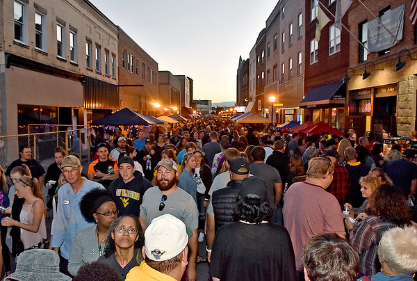 (Brad Davis/The Register-Herald) Neville and Main Streets were completely packed during this year's Chili Night Saturday evening in uptown Beckley.