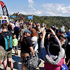 (Brad Davis/The Register-Herald) Spectators try to get a good look during Bridge Day Saturday afternoon.