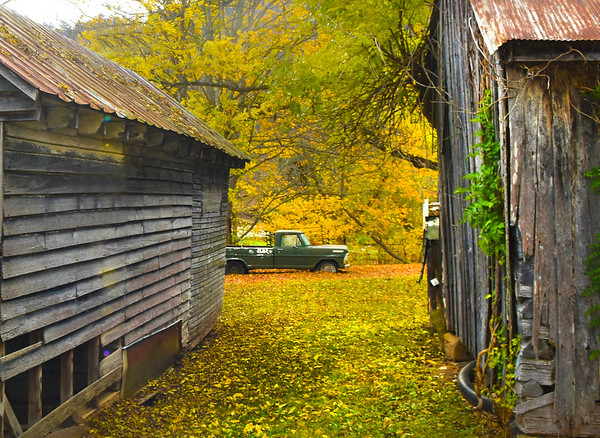 Farm scene located near Greenville off of Route 122 in Monroe County.