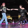 Ryan Neal and Sharon Mahaffey perform during the Dancing with the Stars event held at the Beckley-Raleigh County Convention Center Friday night. <br /> Rick Barbero/The Register-Herald