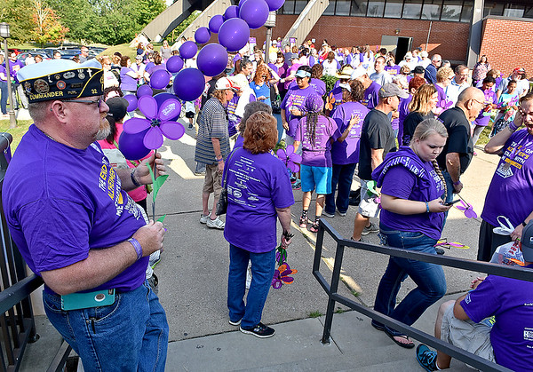 (Brad Davis/The Register-Herald) Walk to End Alzheimer's event Saturday morning at the Beckley-Raleigh County Convention Center.