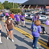 (Brad Davis/The Register-Herald) Attendees and teams embark on their two-lap journey during the annual Walk to End Alzheimer's event Saturday morning at the Beckley-Raleigh County Convention Center.