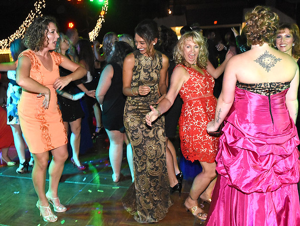 The audience hit the dance floor after the award presentation of the 5th Annual Dancing with the Stars event Friday evening at the Beckley Raleigh County Convention Center. <br /> (Rick Barbero/The Register-Herald)