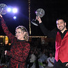 Rick Barbero/The Register-Herald<br /> Dr. Kyle Muscari and Andrea Mullins won the people choice award during the Dancing with the Stars event held at the Beckley-Raleigh County Convention Center Friday night.