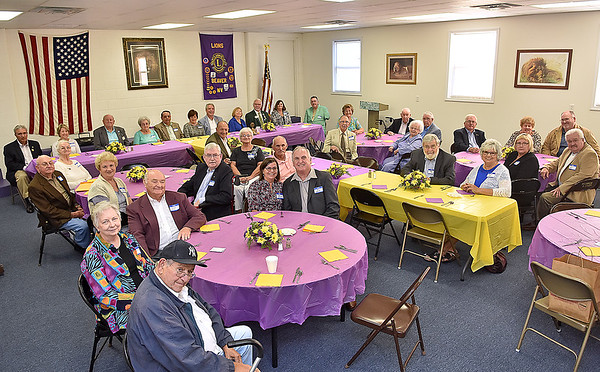 (Brad Davis/The Register-Herald) A group of 15 past presidents and district governors still living were honored during a special dinner and ceremony at the Beaver Lions Club Thursday evening.