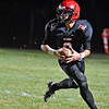 (Brad Davis/The Register-Herald) Liberty's Jacob Bailey against Clay County Friday night in Glen Daniel.