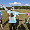 (Brad Davis/The Register-Herald) From left, Kayla Patrick, Makayla Johnson and Sophie O'Neal during the United Way of Southern West Virginia's Color Me United 5K Walk/Run Sunday afternoon at the Raleigh County Memorial Airport.