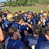(Brad Davis/The Register-Herald) Shady Spring coach Vince Culicerto addresses his team following the Tigers' homecoming win over PikeView Saturday afternoon.