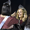 (Brad Davis/The Register-Herald) Liberty senior Ceanna Canterbury is crowned homecoming queen by last year's queen Sarah Adkins during halftime Friday night in Glen Daniel.