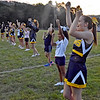 (Brad Davis/The Register-Herald) Greenbrier West cheerleaders are joined by aspiring younger cheerleaders from around the area prior to the Cavaliers' home game against Buffalo Friday night in Charmco.