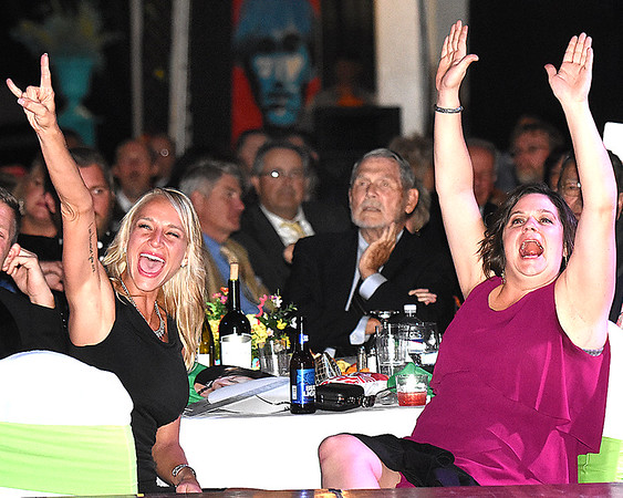 Crowd cheering during the 5th Annual Dancing with the Stars event Friday evening at the Beckley Raleigh County Convention Center. <br /> (Rick Barbero/The Register-Herald)