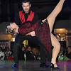 Dr. Kyle Muscari and Andrea Mullins perform during the Dancing with the Stars event held at the Beckley-Raleigh County Convention Center Friday night. <br /> Rick Barbero/The Register-Herald