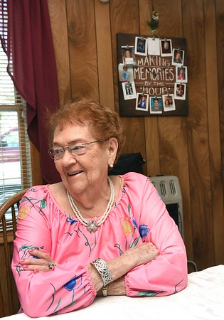 Zetta Underwood, 92, she is one of five generation of woman.<br /> (Rick Barbero/The Register-Herald)