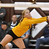 (Brad Davis/The Register-Herald) Greenbrier East's Abbey Anderson reaches out to return a ball against Hedgesville during the Shirley Brown Invitational Volleyball Tournament Saturday afternoon at Woodrow Wilson High School.