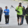 (Brad Davis/The Register-Herald) Active Southern West Virginia community captain Levi Moore, 2nd from right, leads a group of hikers back from a .8 mile trek along the North overlook trail during National Park Prescriptions Day event at Grandview Park Sunday afternoon.
