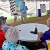 (Brad Davis/The Register-Herald) Senator Joe Manchin answers questions and concerns from the audience as he holds an old fashioned town hall meeting Friday afternoon at the State Fair.