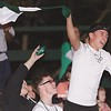 A Fayetteville Fan cheers on his team with enthusiasm! Chad Foreman for the Register-Herald.