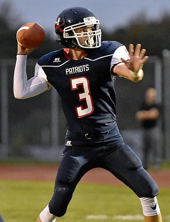 (Brad Davis/The Register-Herald) Independence quarterback Matt McKinney against Shady Spring September 19 in Coal City.