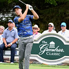 Ben Crane hits his tee shot on the 12th hole during the first round of The Greenbrier Classic.<br /> (Rick Barbero/The Register-Herald.com