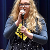 (Brad Davis/The Register-Herald) Wyoming County's Sarah Peery takes a turn during the 2017 Gazette-Mail Regional Spelling Bee Saturday afternoon at Capital High School in Charleston.