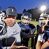 (Brad Davis/The Register-Herald) Indy head coach Mark Montgomery addresses his players prior to the start of the Patriots' game against Clay County Friday night in Coal City.